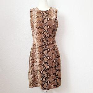 Vintage 90s Y2K Python Snakeskin Sheath Mini Dress